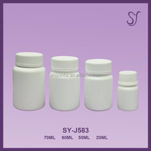 plastic capsules bottle round shape design,HDPE small plastic pill medicine white bottle