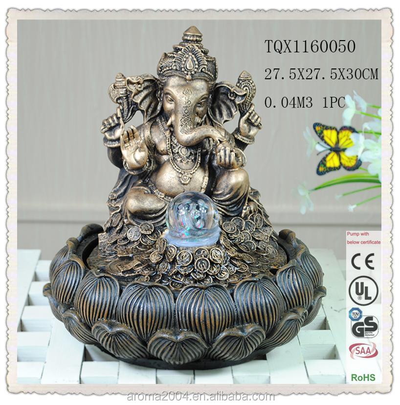 polyresin ganesh statue indian god fountain