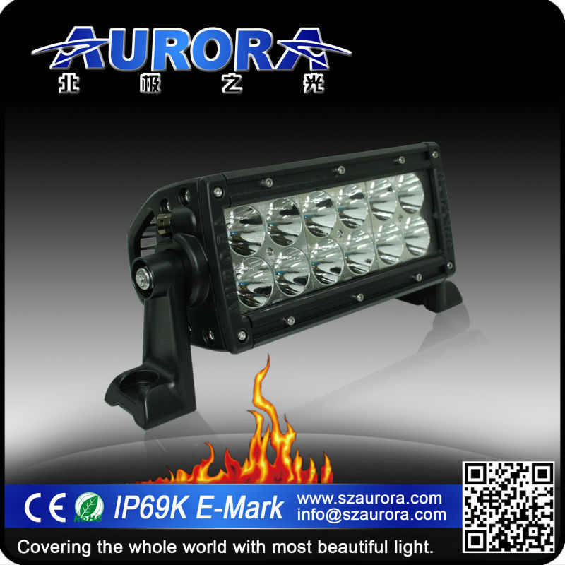 Aurora 100% optically clear 6inch light bar 500w LED bar for trucks