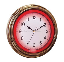 Bar and Game Room Neon Alphanumeric Wall Clock with Neon and Chrome Rim, 15-Inch