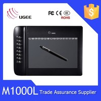 Ugee M1000L 2048 levels 10x6 inch graphic tablet digitizer