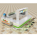 3d ice cream shop furniture design and ice cream mall kiosk for sale