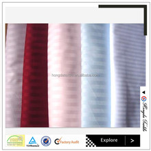 China suppliers 100% polyester jacquard fabric for hotel bedding set