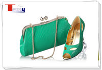 ladies ltalian light green high heel shoes matching bags