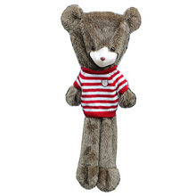 Wholesale Plush Teddy Bear 63 inch Cover with Stripes Knitted Sweater Soft Stuffed Bear Shell Holiday Gifts