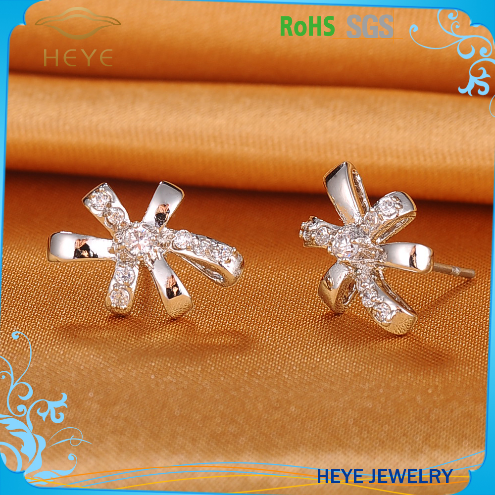 High quality assured pakistan style artificial flower jewelry earring for men