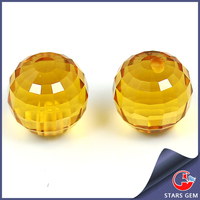 China manufacturer round machine cut jewelry making glass stones