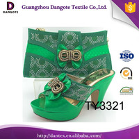 Wholesale Italian matching shoes and bags set TY3321 in green
