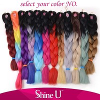 All Colors of Jumbo braid for Braiding Hair on Wholesale 4Pcs/Lot