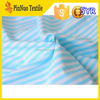 2015 hot sale high quality stripe tube jersey fabric for t shirt garment