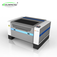 CW5000 Up-down table, auto focus, red dot pointer position 100w hot sale acrylic laser cutting machine 1390