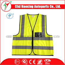 Safety Equipment CE/EN471 Factory 100% Polyester Orange/Yellow Car Reflective Tape Safety Vest Clothing