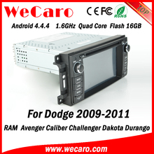 Wecaro WC-JC6235 Android 4.4.4 car dvd 1024*600 for dodge nitro touch screen radio 2009 2010 2011 Steering Wheel Control