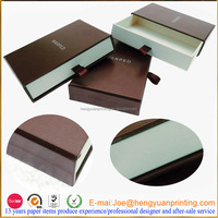 Cardboard jewellery gift boxes with sliding open structure for gift packaging