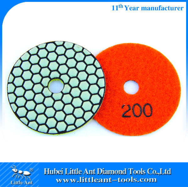 Flexible 400 grit Hand Dry Granite Polishing Pads/Buffing Pads