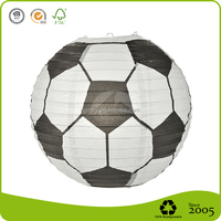 Cheap Football Shape Paper Lantern For Decoration