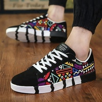 Hot sale factory sneakers fashion comfort casual shoes sports printed canvas shoes men