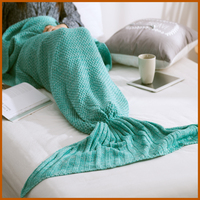China Softtextile Knitted Fleece Mermaid Tail Blanket