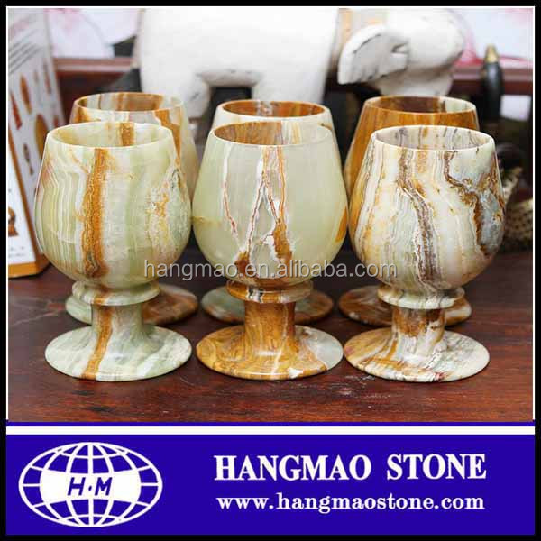 Good design ancient green onyx stone marble cups