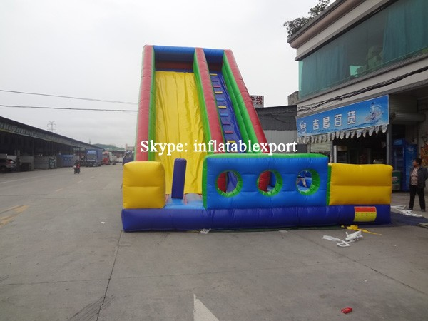 huge slide inflatable climb and stairs slide tunnel giant slide for sale