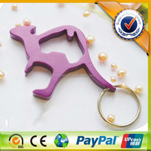 animal shape metal keychain opener/new product promotional metal bottle opener keychain with printed logo