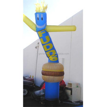 Factory directly price fast food dancing air tube man and hamburger inflatable advertisement