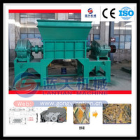 Twin shaft shredder for used tyre, plastic, tree branches