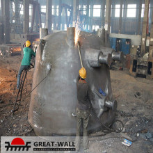 Large cast cinder ladle for steel industry