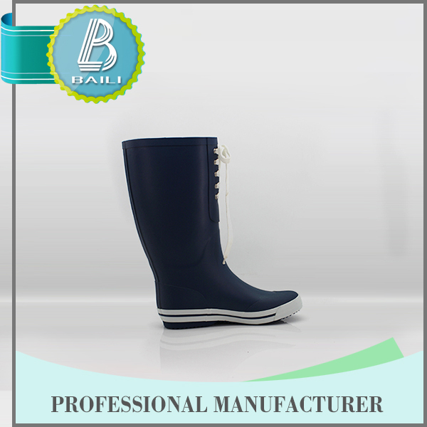 2016 Newest 10 Years experience 100% Natural Rubber Rain sheep wool boots