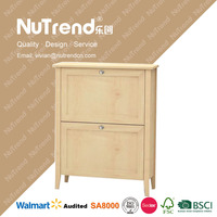 restaurant new creative shoe storage cabinet solid wood shoe cabinet