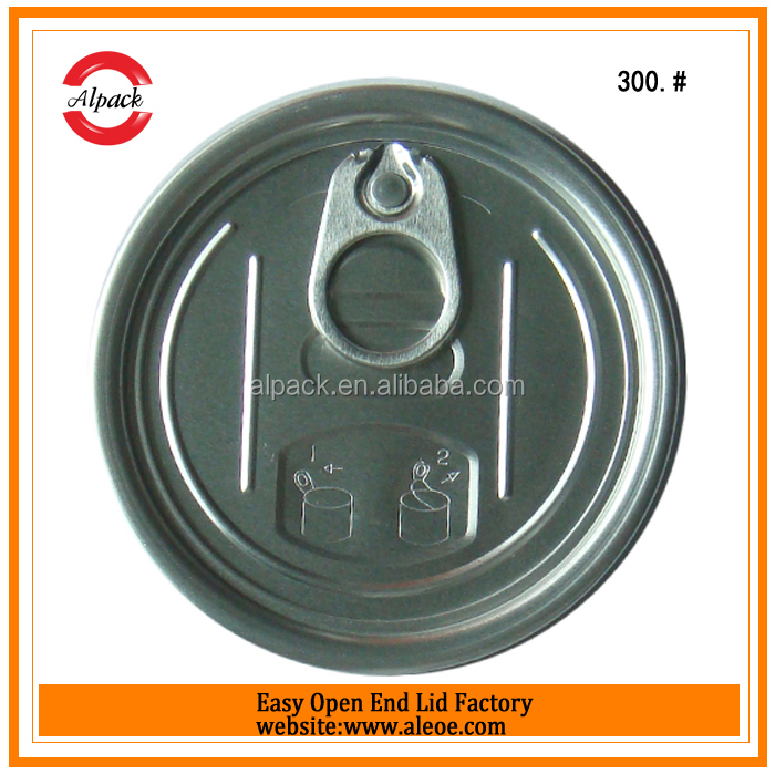 Transparent can easy opener lids for oyster powder