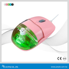 Customized Floater Safety White Mineral Oil Liquid Wired Optical Mouse With USB Cable