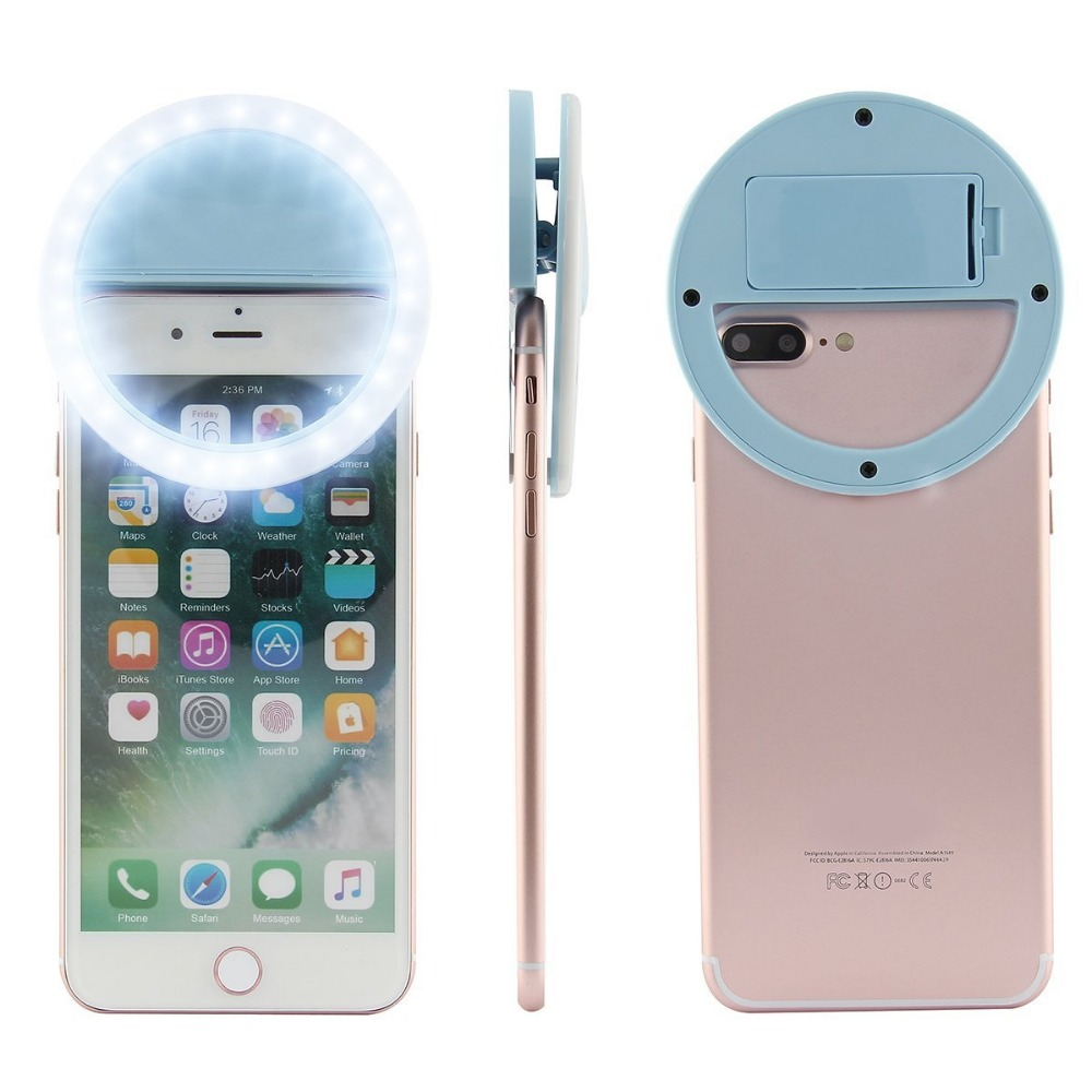 Selfie Light Round Clip On Phone Camera Selfie Ring Flash Light ring light phone selfie led clip