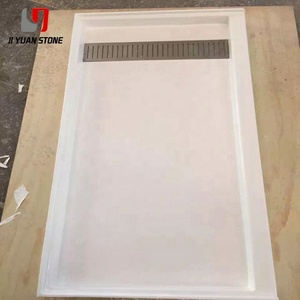 On Sale Cast Marble Cultured Tub Surround Faux Slab Shower Pan For Decoration