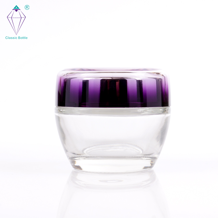 Luxury cosmetic container packaging empty glass bottles and jars wholesale