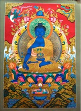 MEDICINE BUDDHA (BIG) THANKA