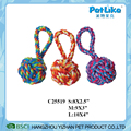 Different Sizes Cotton Rope Ball With Handle Wholesale Dog Chewing Rope Toy