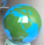 500mm Stainless Steel World Map Globe with Paint Blue and Green Color for Garden,Public Art Decoration