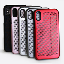 Colorful aluminum phone housing hollow surface back case for iPhone 8