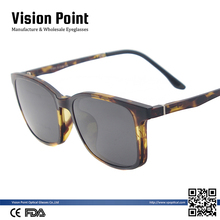 Wholesale Men TR90 Square Custom Logo Magnetic Clip On Sunglasses with TAC Polarized Lens