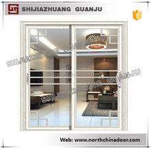 Large Sliding Tempered Glass Aluminum Door