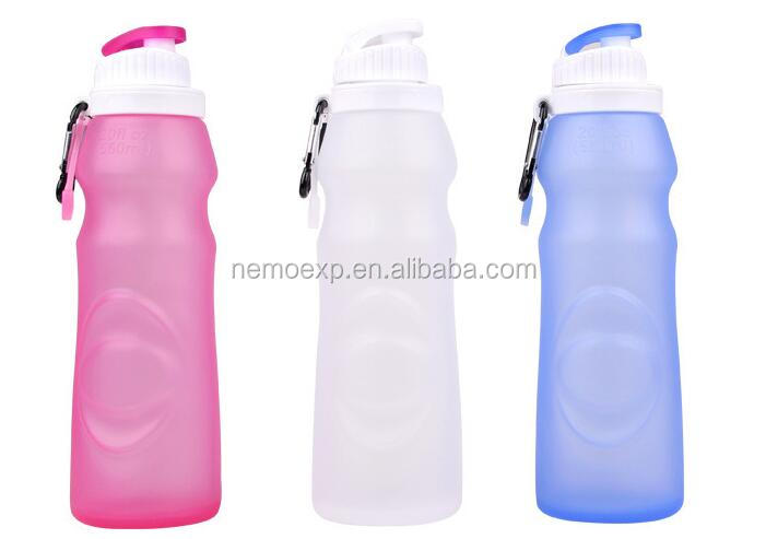 Silicone Sports Water Bottle