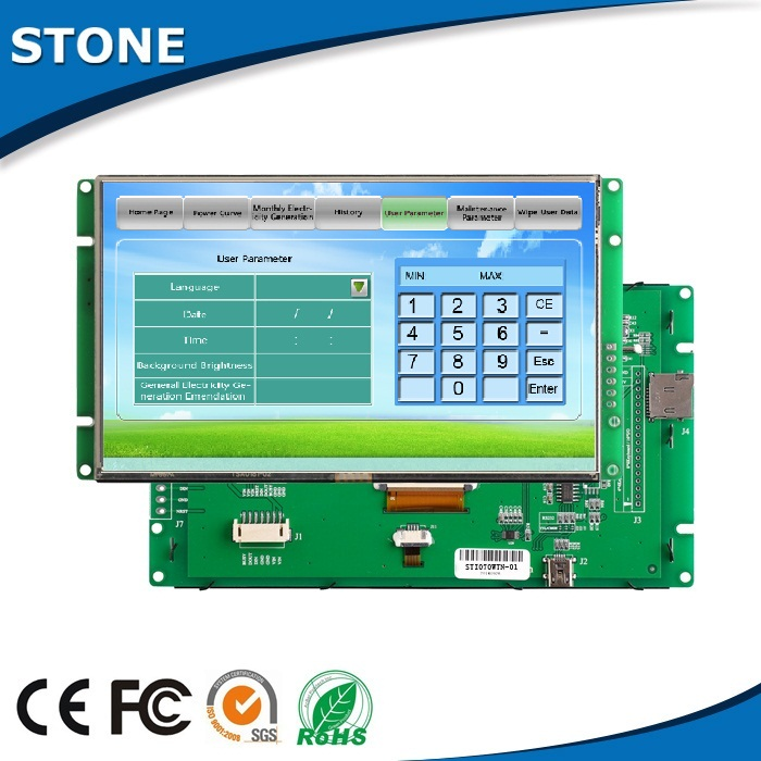 "touch screen lcd tft 10.1"" tft lcd RS485 interface ttl interface"