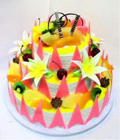 colorful birthday cake model
