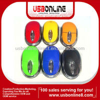 New arrival colorful wireless 2.4g driver USB optical scroll wheel usb mini mouse