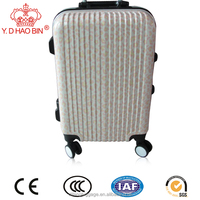 Spinner Caster and Suitcase Type hard shell aluminum trolley 2 pieces luggage