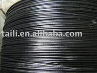 black PVC coated steel wire rope (S)