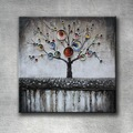 Handmade 3D trees oil painting on canvas
