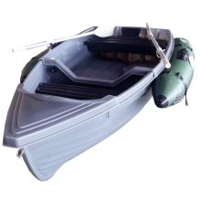 New arrival grey color plastic boat fishing small dinghy for sale