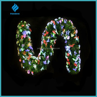 wholesale christmas decoration,shining colorful fiber optic artificial christmas garland